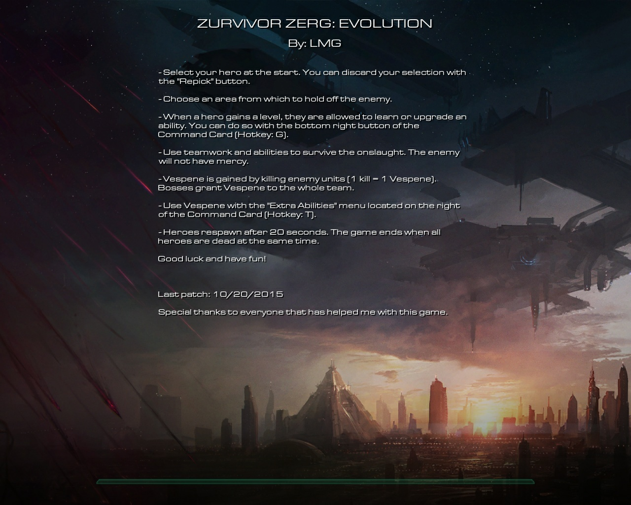 Zurvivor Zerg Evolution